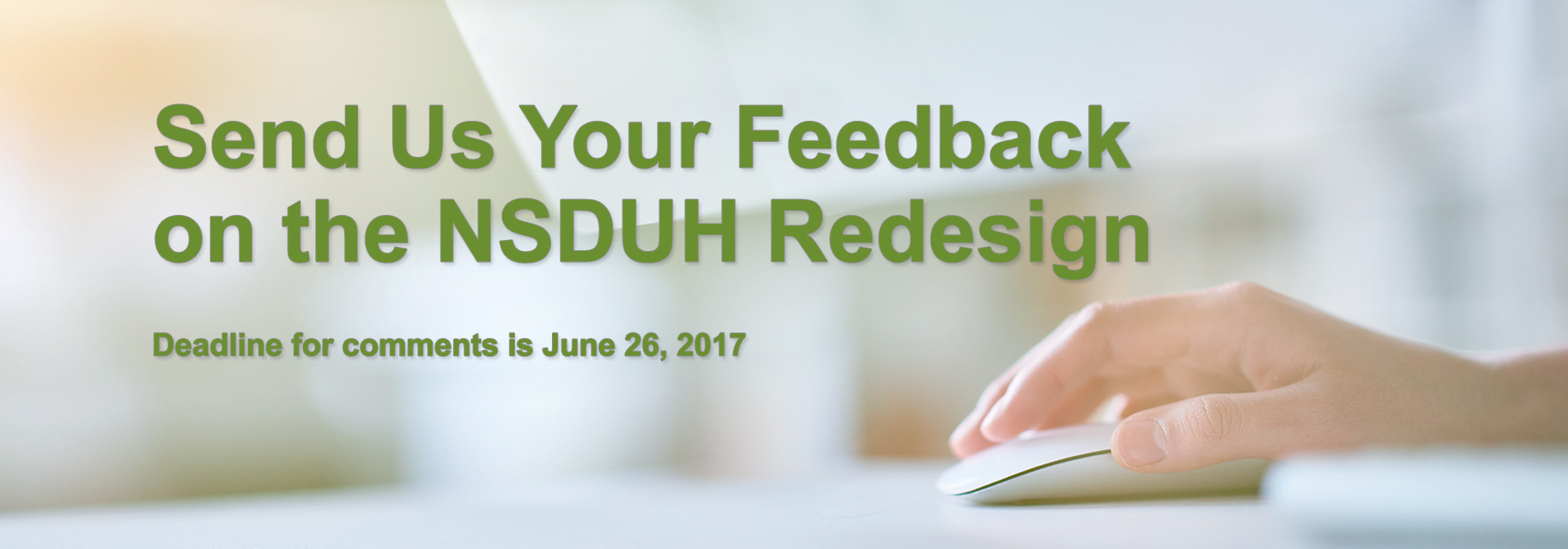 Comment on the NSDUH Redesign