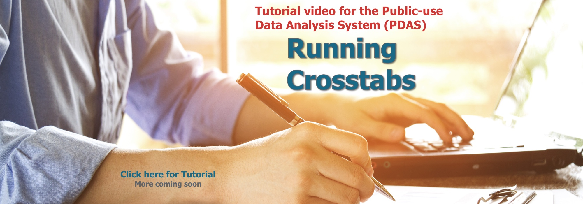 Crosstab tutorial banner